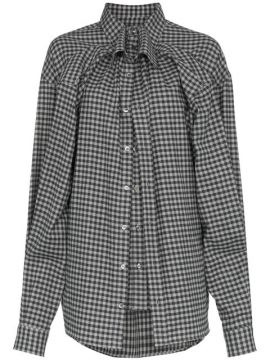 Camisa Oversized Xadrez  - Y / Project