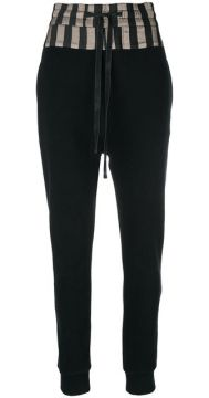 Striped Hem Track Pants  - Ann Demeulemeester