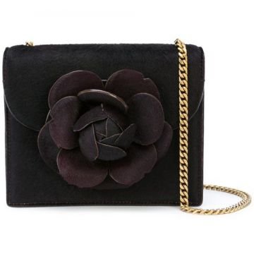 Flower Appliqué Cross-body Bag - Oscar De La Renta