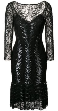 Vestido Bordado Com Decote Canoa - Temperley London