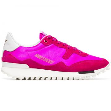 Pink Low Top Lace Up Leather Sneaker - Golden Goose Deluxe B