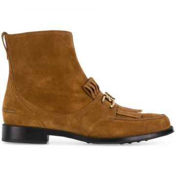 Ankle Boot De Couro - Tods