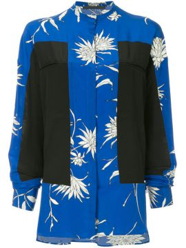 Blusa Oversized De Seda Color Block - Haider Ackermann