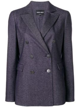 Double-breasted Fitted Blazer - Giorgio Armani