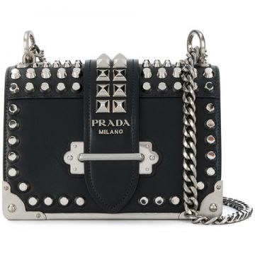 Studded Cahier Cross-body Bag - Prada