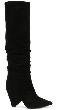 Pointed Knee-length Boots - Anna F.
