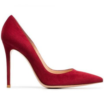 Red 105 Suede Pumps - Gianvito Rossi