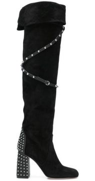Studded Knee-length Boots - Red Valentino