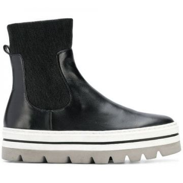 Elasticated Slip-on Platform Boots - Steffen Schraut