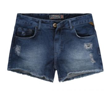 SHORT JEANS FEMININO DESTROYED CINTURA ALTA
