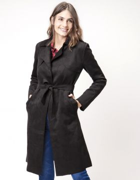 TRENCH COAT FEMININO SUEDE