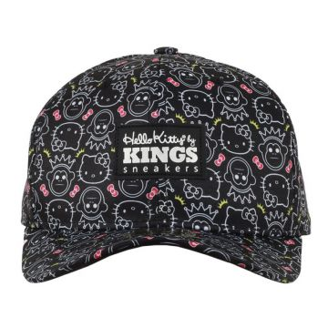 Boné Kings Aba Curva Hello Kitty | Black