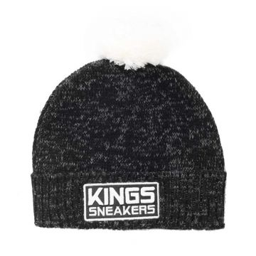 Gorro Kings Team Monkey Pompom Preto