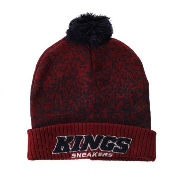 Gorro Kings Team Monkey Pompom Bordô