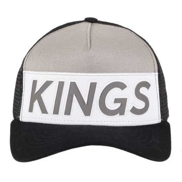 Boné Kings Aba Curva Stripe Cinza Trucker