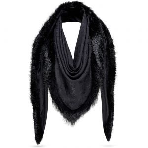 Monogram V Fur Shawl