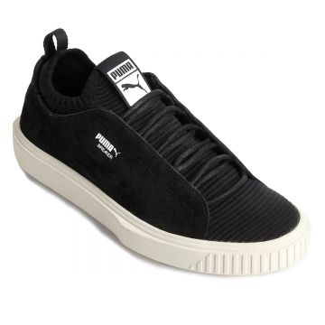 Tênis Puma Breaker Knit Sunfaded - Preto E Branco