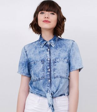 Camisa Cropped Jeans
