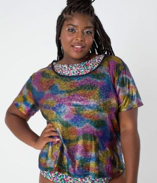 Blusa Colorida Curve & Plus Size