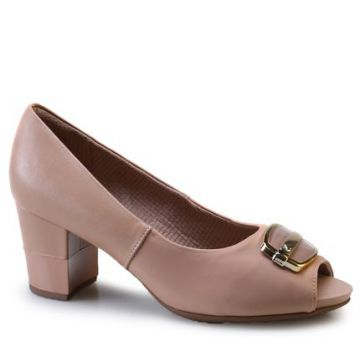 Sapato Peep Toe Piccadilly 364003 Bege