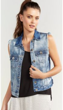 COLETE JEANS DIRTY PUIDO SHOULDER