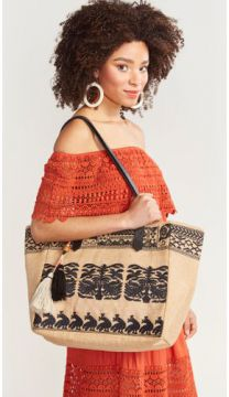 BOLSA BORDADA-NATURAL-UN SHOULDER