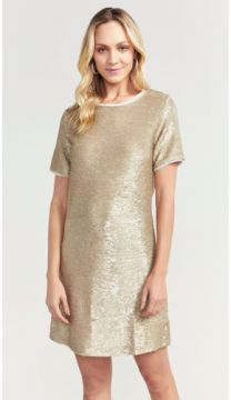 T-SHIRT DRESS PAETE SHOULDER
