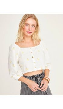 BLUSA TRICOLINE BORDADA SHOULDER