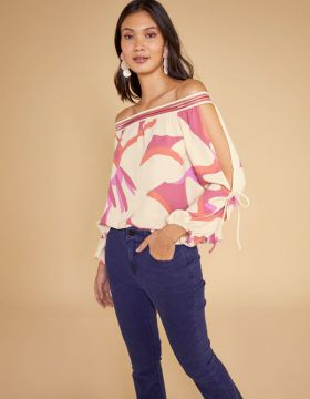 Blusa Cigana Floral - Shoulder