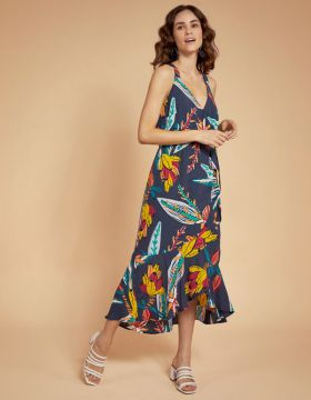 Vestido Cache Cour Estampado - Shoulder