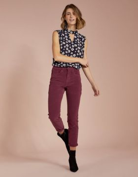 Calca Color Veludo Skinny Vinho - Shoulder