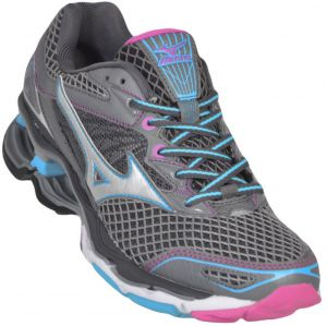 Tênis Mizuno Wave Creation 18 - 34 - Grafite/Azul Claro