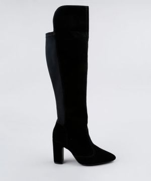 Bota Feminina Over The Knee Vizzano Salto Alto Bico Fino Pr