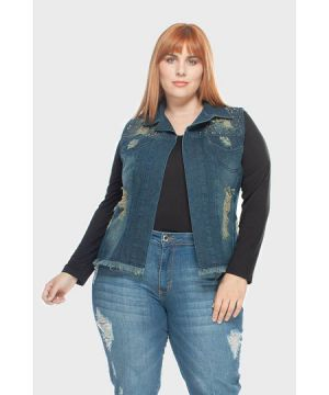 Colete Igor Destroyed Plus Size