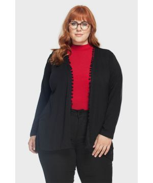 Cardigan Pompom Plus Size