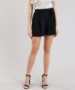 Short Feminino Clochard Preto