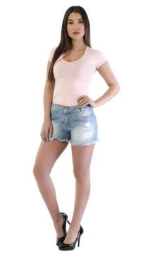 Short Jeans Boyfriend Destryed-261380