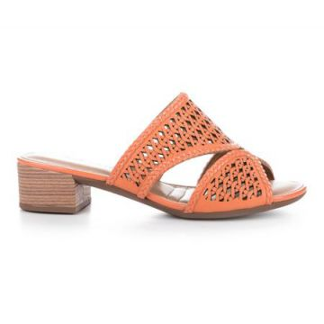 Tamanco Dakota Laser Cut Laranja