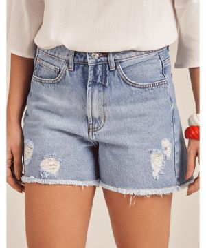 Short Jeans Basic Zinzane Denim Medio