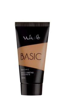 Base Líquida Matte Vult 03 Basic 2 em 1 30 Ml