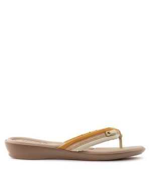 Chinelo Piccadilly bicolor Amarelo
