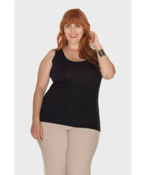 Blusa Regata Viscolycra Plus Size