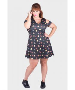 Vestido Estampado Girl Power Plus Size