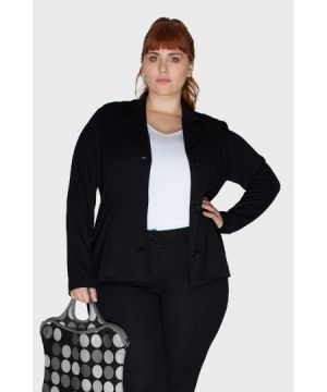 Blazer Work Preto Plus Size