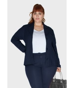 Blazer Work Azul Plus Size