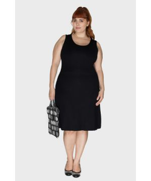 Vestido Work Preto Plus Size