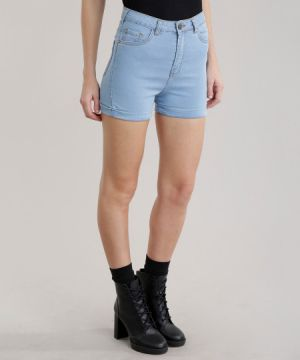 Short Jeans Hot Pant Azul Claro