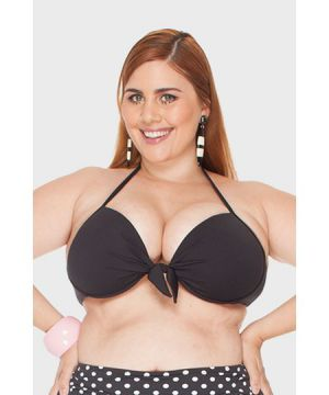 Top com Bojo Laço Plus Size