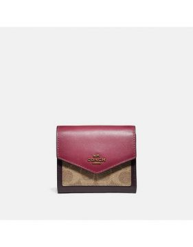 Carteira Small Signature Coach - Rosa