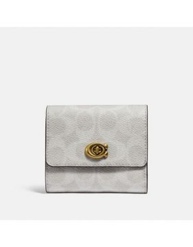 Carteira Small Wallet Signature Coach - Branco